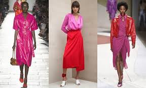 pink colour combination dresses summer 2017 fashion trends clothing and jewelry three snails