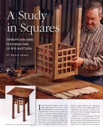 gridwork side table plans u2022 woodarchivist