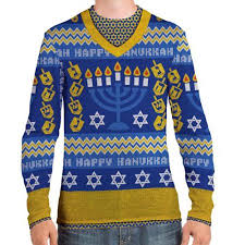 hannukah sweater faux real men s hanukkah sweater medium walmart