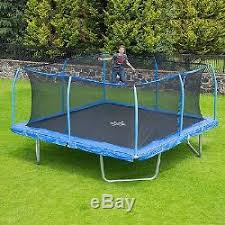 Backyard Gymnastics Equipment Trampoline With Safety Enclosure 15 Ft Net Jump Combo Frame Kid