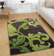 modern large brown green rug in 120x160 4x5 150x210 cm 5x7