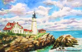 portland head lighthouse painting tutorial 7 jpg