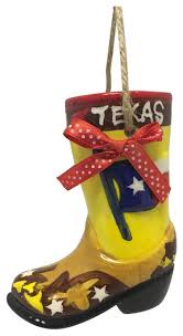 flag boot ornament southwestern ornaments by