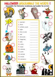 halloween esl printable worksheets and exercises