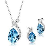 jewelry sets t400 jewelers waterdrop pendant necklace earrings