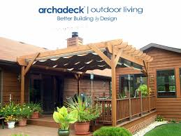 exterior wood pergola with rectractable canopies by archadeck of