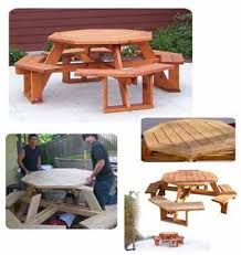 Woodworking Plans For Picnic Tables by 9 Best Picnic Table Images On Pinterest Octagon Picnic Table