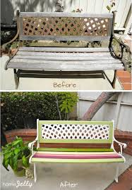 Plans To Make A Park Bench by Weekend Diy Project Wow Up An Old Park Bench Homejelly