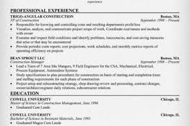 Profile Summary Example For Resume by Construction Estimator Resume Samples Reentrycorps