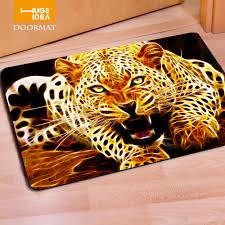 Rugs For Kids Hugsidea 3d Tiger Lion Carpet Gold Black Owl Wolf Fur Carpets Non