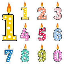 number birthday candles birthday candles svg cut files for scrapbooking birthday svg files
