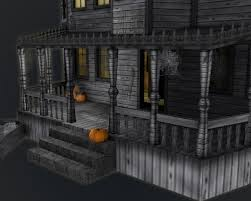 haunted halloween house by adrian3dartist 3docean