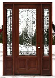 Window Inserts For Exterior Doors Creative Designs Entry Doors With Glass Panels And Wrought Iron