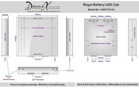 Battery Bathroom Mirror by Regal Battery Led Cab H 600mm X W 650mm X D 140mm Illuminated