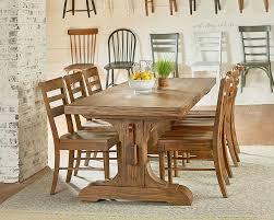 magnolia home farmhouse keyed trestle dining table setting magnolia home farmhouse keyed trestle dining table setting