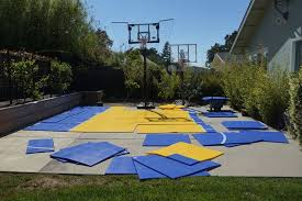 Backyard Pool And Basketball Court Dunkstar Diy Courts Home Facebook