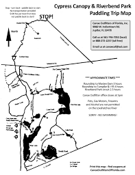 Map Of Florida Turnpike by The Cypress Canopy Canoe Outfitters Of Florida
