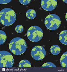 globe seamless pattern globes of earth background planets o