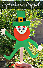 popsicle stick leprechaun puppet craft for st patrick u0027s day