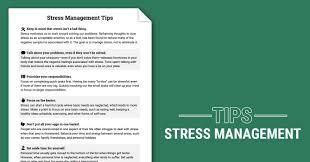 Ptsd Worksheets Stress Management Tips Worksheet Therapist Aid