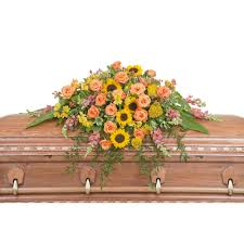 casket spray heaven s sunset casket spray from seasons floral