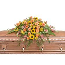 casket spray heaven s sunset casket spray from seasons floral