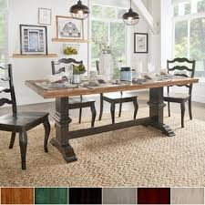 Farmhouse Dining Room  Kitchen Tables Shop The Best Deals For - Farmhouse dining room furniture