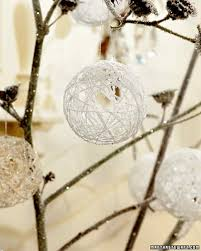 snowy balloon ornaments martha stewart