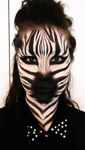 animal face makeup fierce tiger full face realistic artistic