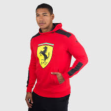ferrari clothing puma men u0027s ferrari big shield hoodie rosso corsa