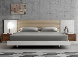 White Modern Bed White Modern Upholstered Platform Bed U2014 Room Decors And Design