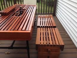 Decorative Coolers For The Patio by Matching Outdoor Benches For Cooler Table Diy Cedar Outdoor