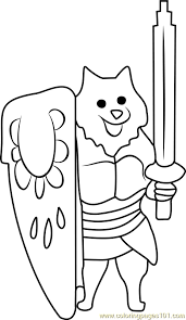 lesser dog undertale coloring free undertale coloring pages