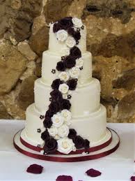 burgundy u0026 ivory roses enticing cakes by christine