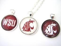 spirit halloween store pullman wa 1 wsu cougars college spirit glass pendant necklace jewelry