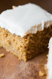 pumpkin cake with cinnamon white chocolate cream cheese frosting