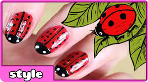 lady bug nail art youtube