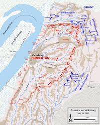 Map Of The Battle Of New Orleans siege of vicksburg american civil war