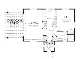 one bedroom home plans simple one bedroom house plans home plans homepw02510 972
