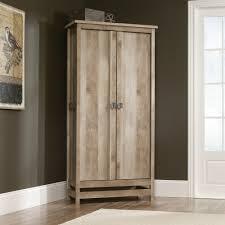 Oak Kitchen Pantry Storage Cabinet Amazon Com Sauder Cannery Bridge Storage Cabinet In Lintel Oak