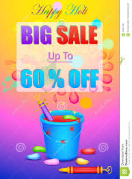 holi sale promotion poster stock vector image 67037796