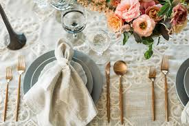Wedding Linens Cloudy Day Wedding Inspiration With A Hand Painted Bridal Gown