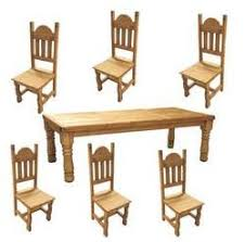 round table san carlos rustic dining table set wood dining table set