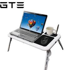Laptop Folding Desk by Gte E Table Portable Foldable Laptop Table With Cooling System