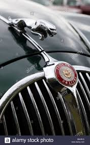 jaguar front motoring front of classic old british made 1960s mark 2 jaguar car