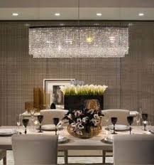Crystal Chandelier For Dining Room by 310 U003d Ella Fashion Modern Rectangle Clear K9 Crystal Chandelier