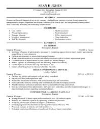 Sample Company Resume by Examples Of General Resumes