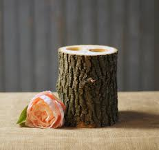 large log 2 tea light candle holder rustic home decor u2013 gft