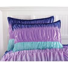 girls teal bedding latitude ombre ruched reversible complete bedding set purple