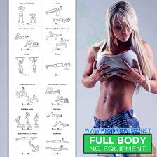 Bedroom Workout No Equipment Full Body Workout No Equipment Female Fitness Training Ab
